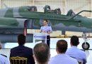 Cerimônia de entrega: caça F5-M modernizado